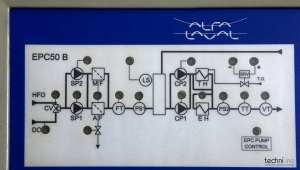 CONTROL UNIT FOR FUEL VISCOSITY ALFA LAVAL EPC50